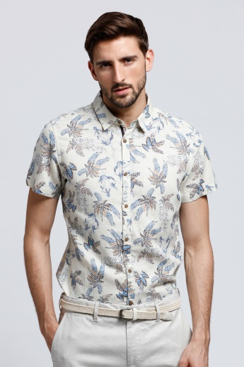 Being Human Printed Shirt with Short Sleeves