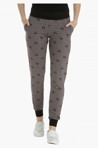Mickey Mouse Printed Knitted Jogpants