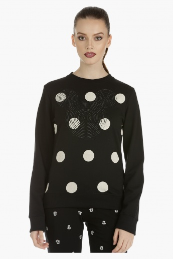 Mickey Mouse Sweatshirt with Long Sleeves