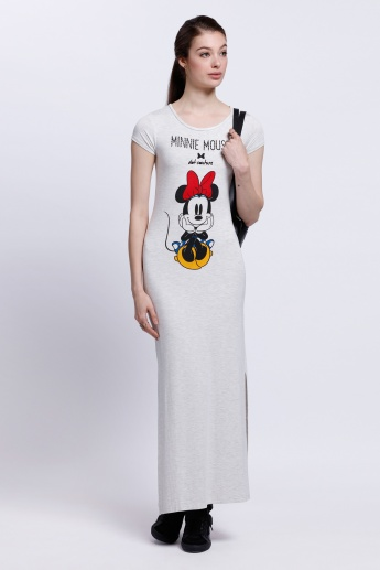 Minnie Mouse Printed Long Dress
