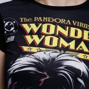 The Wonder Woman Printed Round Neck T-Shirt