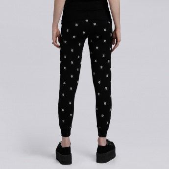 Mickey Mouse Printed Full Length Jog Pants with Snug Fitted Cuffs