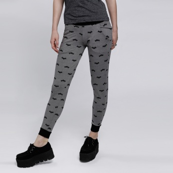 Batman Printed Jog Pants with Elasticised Cuffs