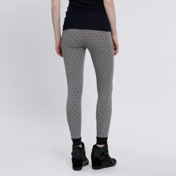 Hello Kitty Printed Full Length Leggings with Pocket Detail