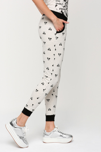 Sustainability Mickey Mouse Printed Jog Pants with Ealsticised Waistband