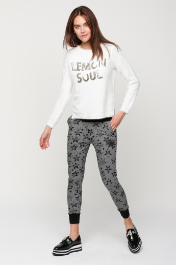Sustainability Tasmanian Devil Printed Full Length Jog Pants