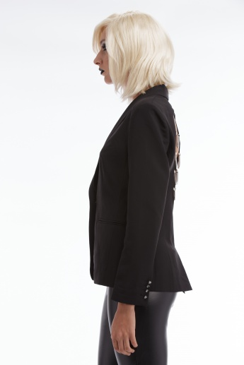BLACK by Splash Long Sleeves Jacket with Chain Detail at the Back